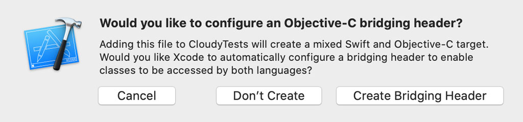 There is no need for an Objective-C bridging header.