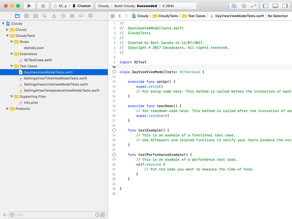 Creating DayViewViewModelTests.swift