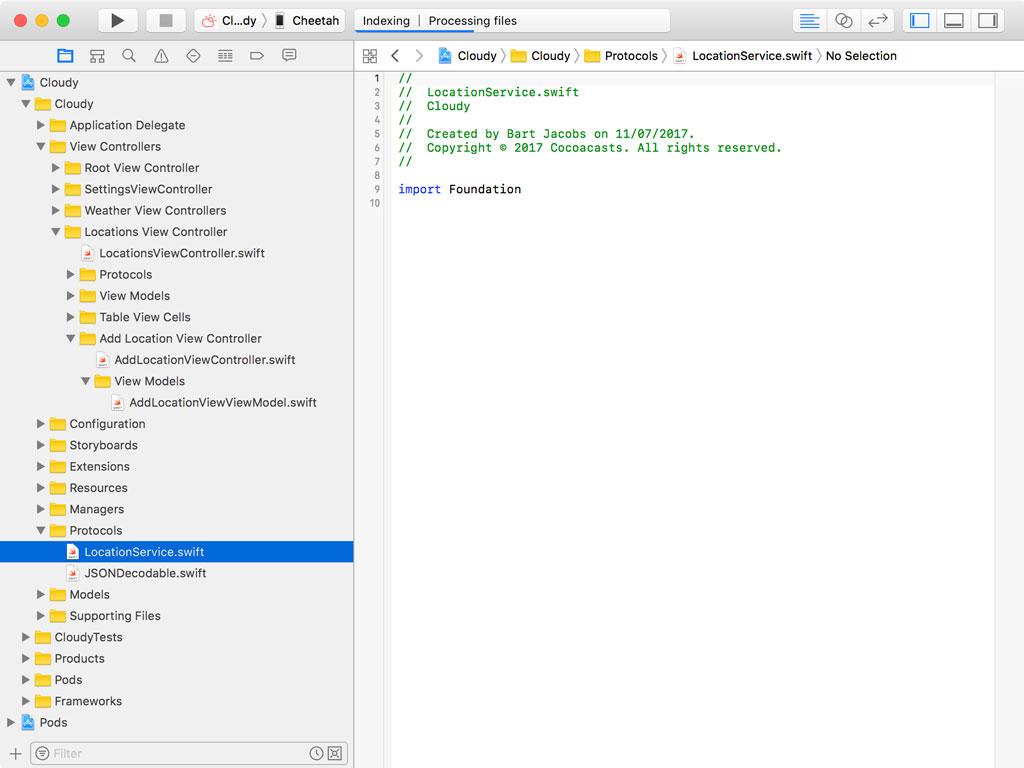 Creating LocationService.swift