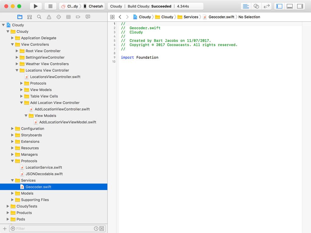 Creating Geocoder.swift