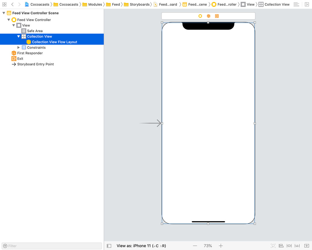 Collection View Flow Layout in Interface Builder