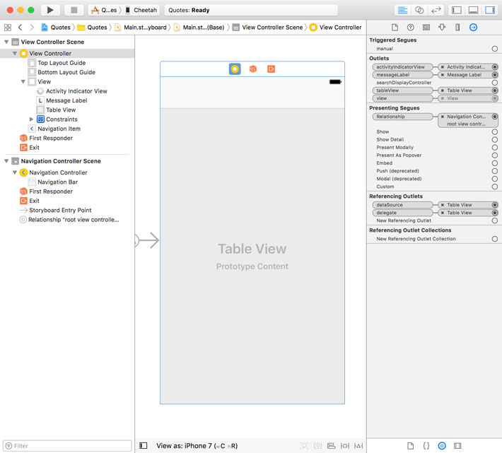 Creating the User Interface