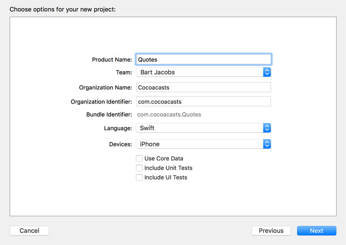 Setting Up the Project In Xcode