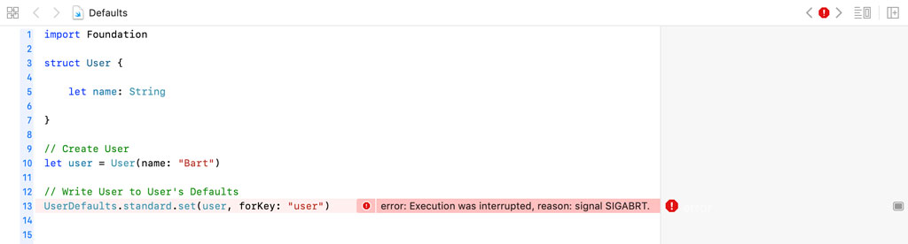 Storing a Custom Object in User Defaults Does Not Work | Runtime Exception