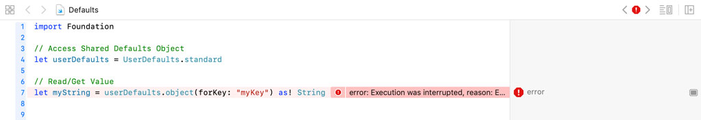 Use the Exclamation Mark Sparingly in Swift | Runtime Exception