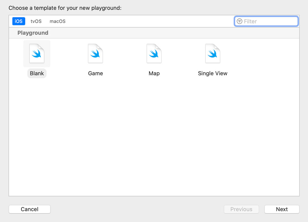 Setting Up a Playground in Xcode 11