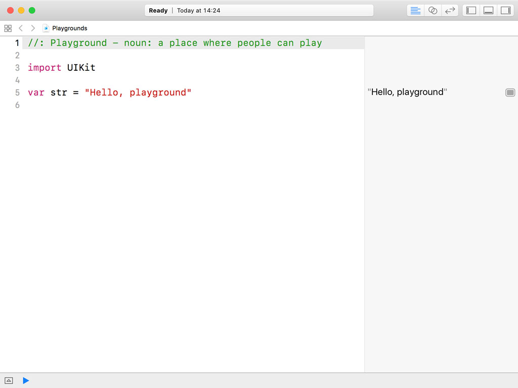 Exploring the Playground in Xcode