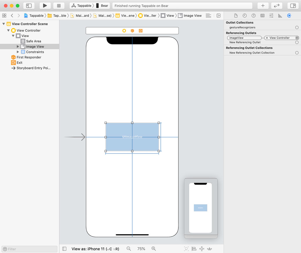Creating the User Interface in Interface Builder