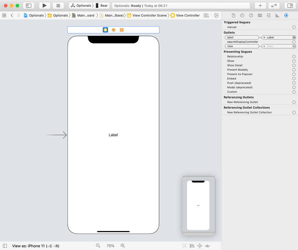Setting Up the User Interface in Interface Builder