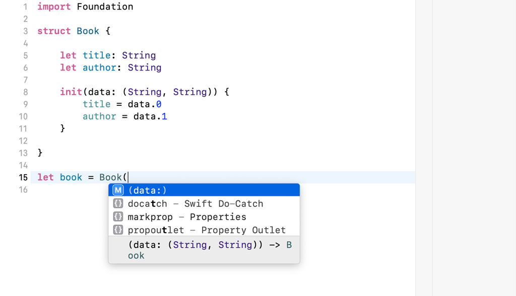 Defining a Custom Initializer for a Struct