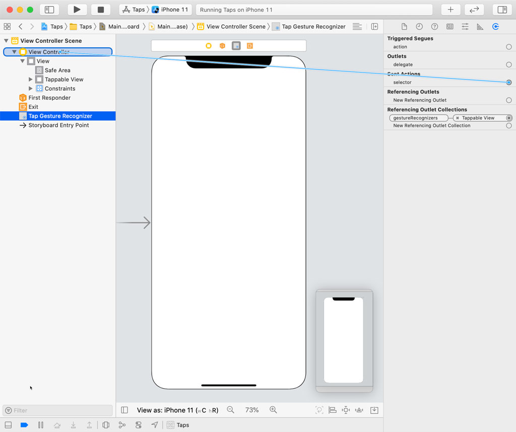 Connect the Action in Interface Builder