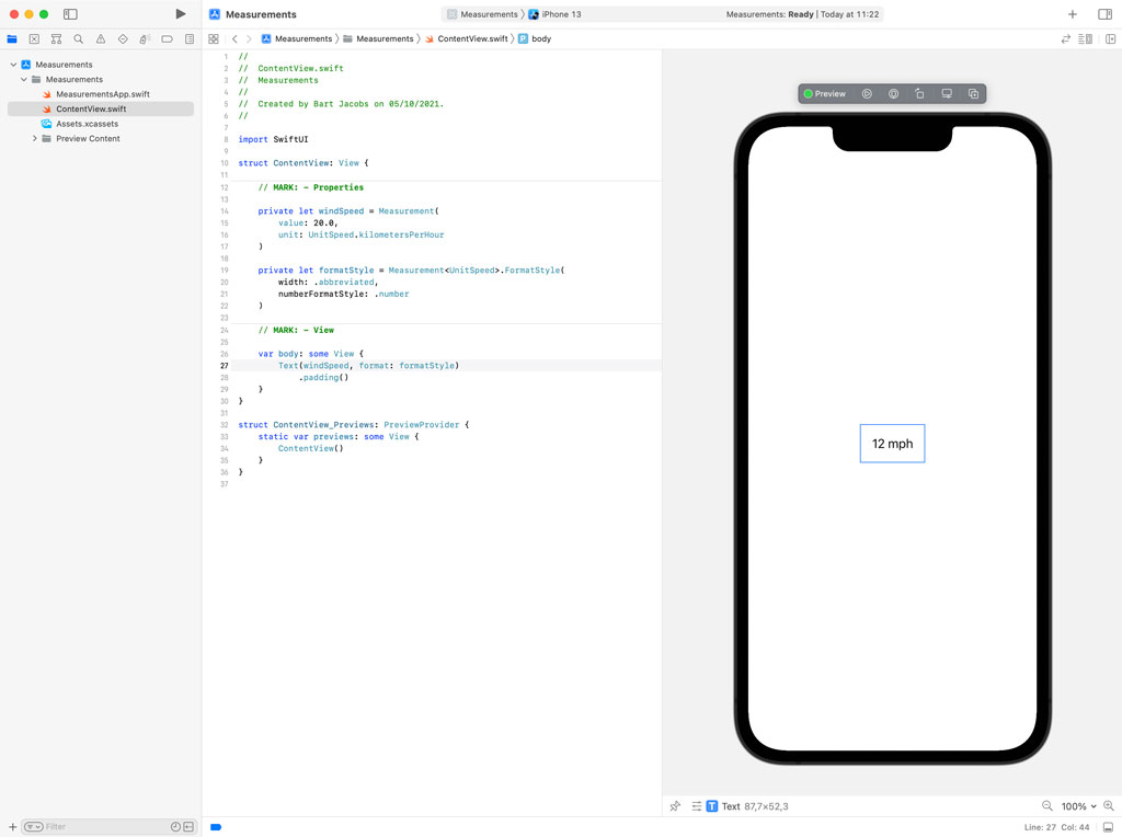 Formatting Measurements in SwiftUI