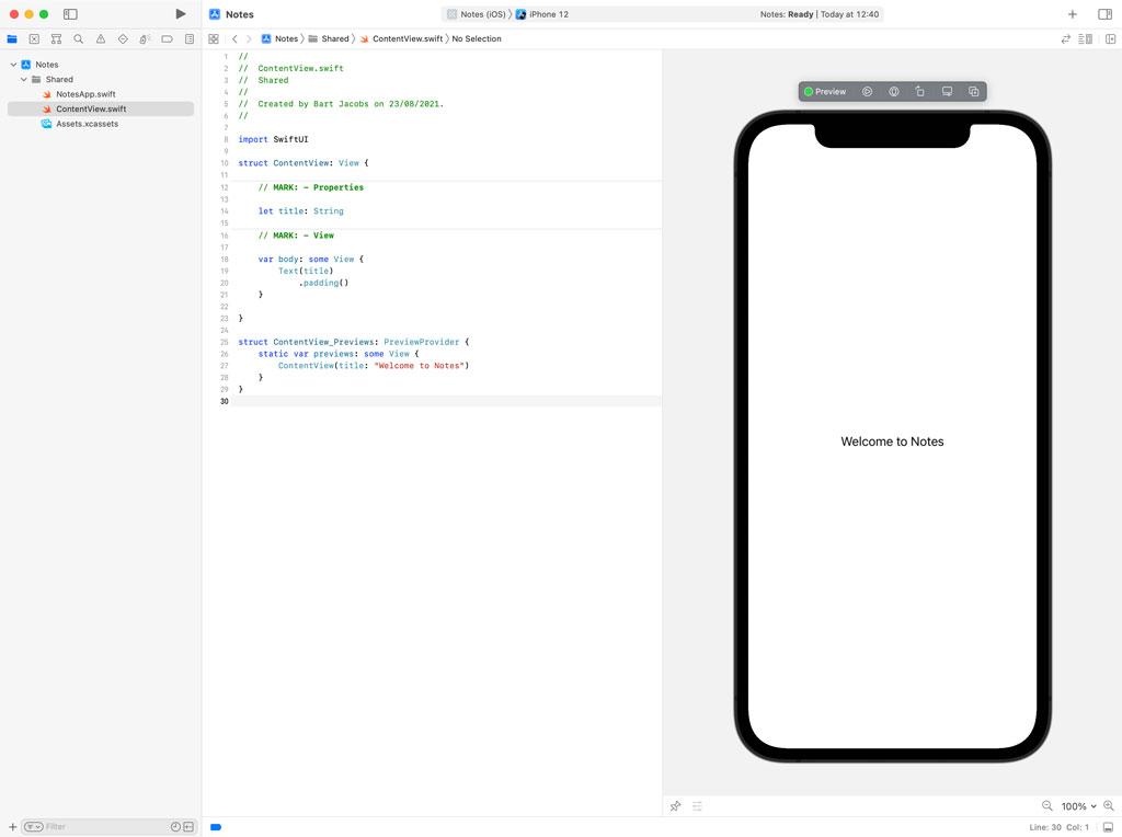 Previewing a User Interface Built with SwiftUI