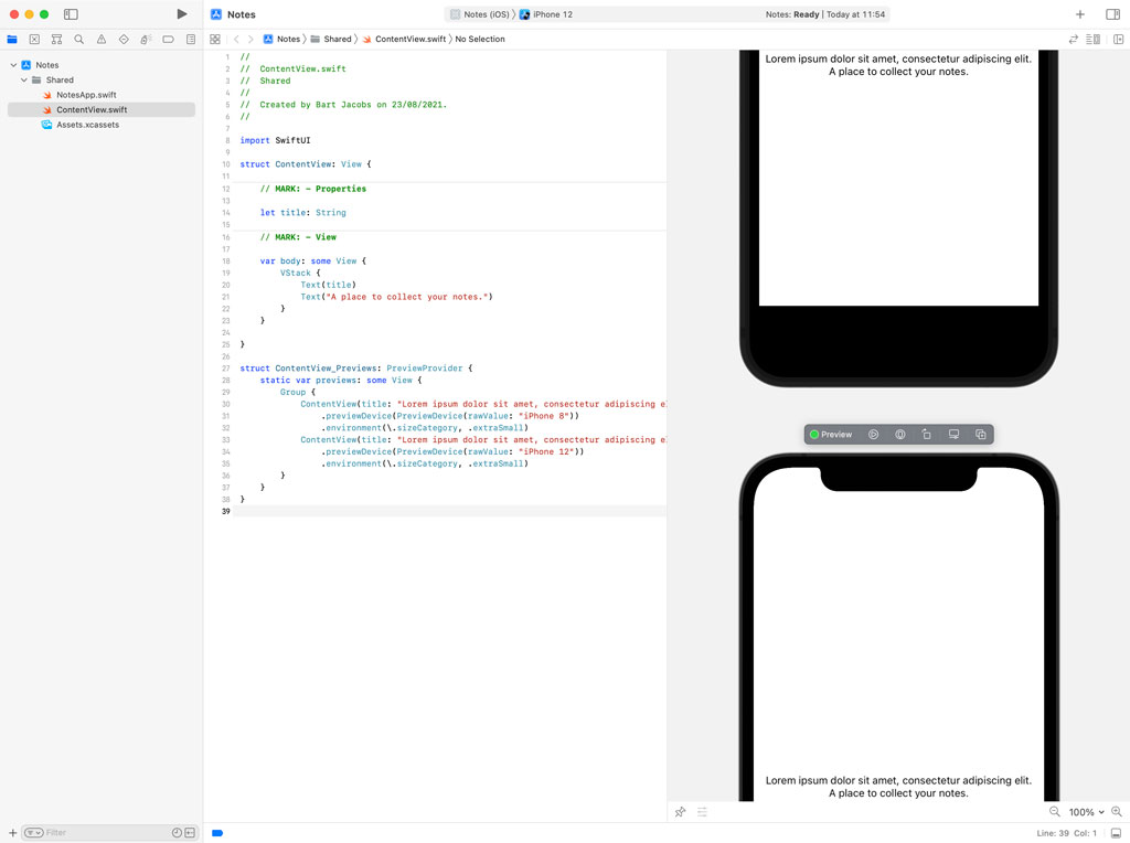 Using Multiple Xcode Previews