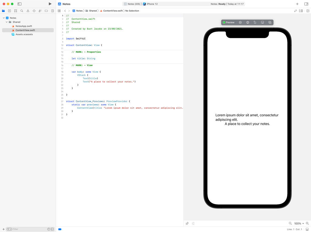 Working with Xcode Previews