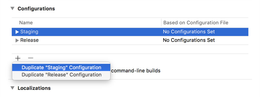 Duplicating a Build Configuration