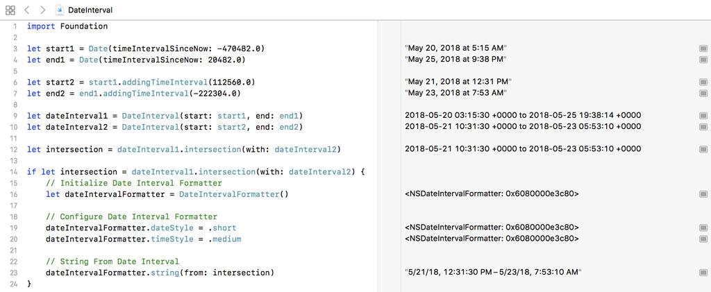 Formatting a Date Interval With DateIntervalFormatter